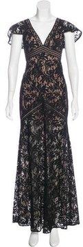 BCBGMAXAZRIA Lace Evening Dress