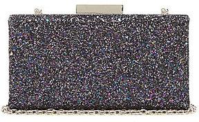 Kate Landry Crushed Glitter Frame Clutch