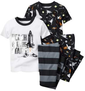 Carter's Baby Clothing Outfit Boys 4-Piece Space Theme PJ Set Reach for the Stars