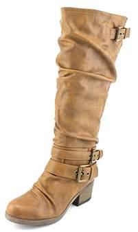 Carlos by Carlos Santana Claudia Round Toe Synthetic Knee High Boot.