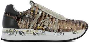 Premiata Women's Brown Leather Sneakers.