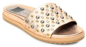 Dolce Vita Gia Beaded Leather Slides