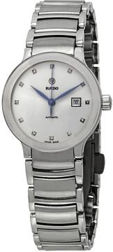 Rado Centrix Automatic Diamond Silver Dial Ladies Watch