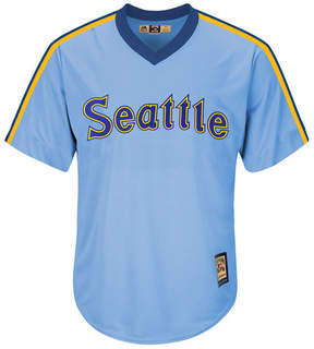 Majestic Men's Seattle Mariners Cooperstown Blank Replica Cb Jersey