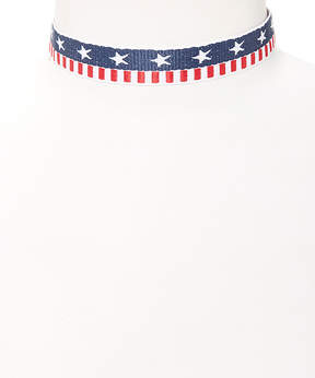 Carole Large Stars & Stripes Choker Necklace