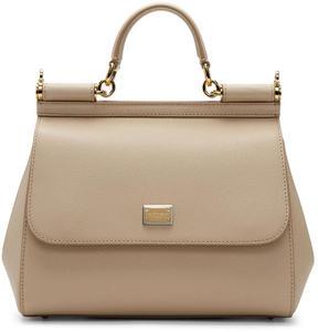 Dolce & Gabbana Beige Medium Miss Sicily Bag