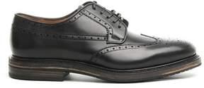 Salvatore Ferragamo Men's Black Leather Lace-up Shoes.