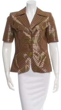 Christian Lacroix Short Sleeve Striped Jacket