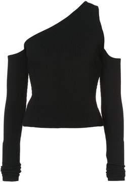 Amiri one shoulder knit top