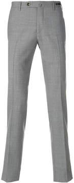 Pt01 straight leg check trousers