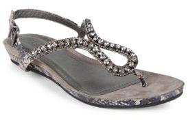 Kenneth Cole Reaction Lost Star Embellished Snake Print Wedge Sandals