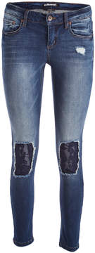 Dollhouse Serendipity Lace-Knee Skinny Jeans - Juniors