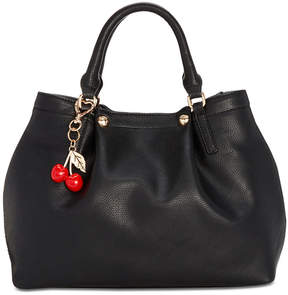 Betsey Johnson Medium Satchel with Decorative Cherry Strap