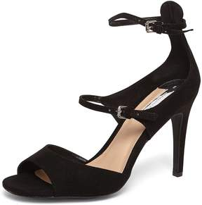 Dorothy Perkins Black 'Stephanie' Velvet Sandals