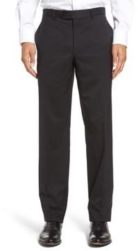 David Donahue Men's Ryan Regular Fit Wool Trousers