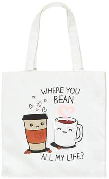 Forever 21 Coffee Graphic Tote Bag