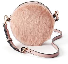Lauren Conrad Petit Faux Fur Round Crossbody Bag