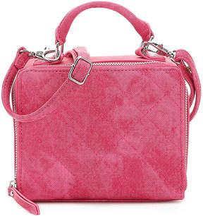 Women's Half Mini Shoulder Bag -Fuchsia