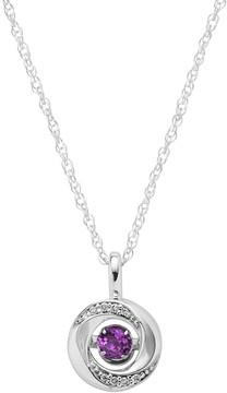 Brilliance+ Brilliance In Motion Brilliance in Motion Amethyst & Diamond Accent Knot Pendant