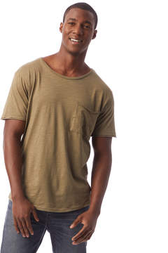 Alternative Apparel Slub Jersey Big Pocket Crew T-Shirt