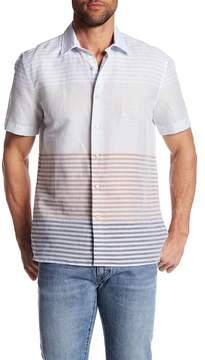Perry Ellis Short Sleeve Engineered Stripe Regular Fit Shirt