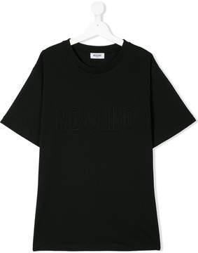 Moschino Kids logo embossed T-shirt