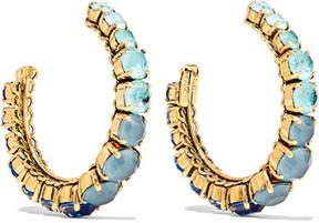 Erickson Beamon Rhapsody Gold-tone Crystal Hoop Earrings - Blue