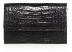 Nancy Gonzalez Large Crocodile Bar Clutch