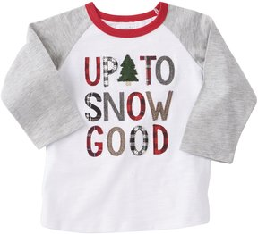 Mud Pie Baby Boys 12-24 Months Christmas Up To Snow Good Tee