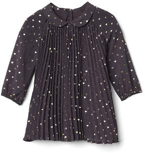Gap Shiny heart pleat dress