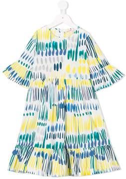 Il Gufo printed flare dress