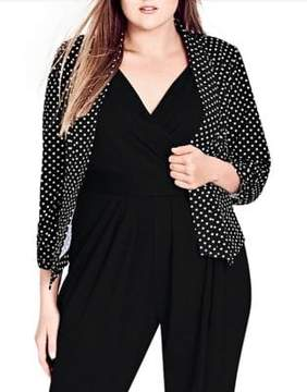 City Chic Plus Seeing Spots Jacket