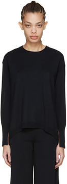 Cédric Charlier Navy Oversized Pullover