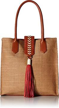 Badgley Mischka Bailey Straw Tote