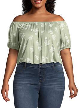 Arizona Short Sleeve Crop Top-Juniors Plus