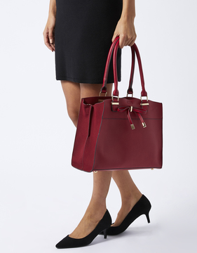 Belinda Bow Triple Compartment Tote Bag