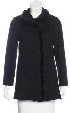 Fleurette Wool Fur-Trimmed Coat