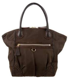 MZ Wallace Suede-Trimmed Studded Tote