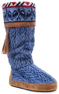 Muk Luks Women's Marisa Knit Boot Slippers