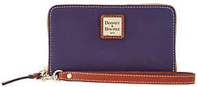 Dooney & Bourke Pebble Leather Zip Around Phone Wristlet - ONE COLOR - STYLE
