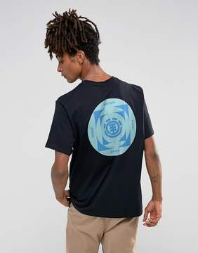 Element Scope T-Shirt with Back Print in Black