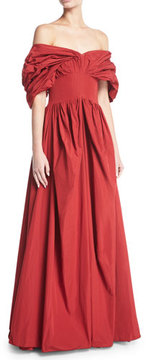 Brock Collection Dionne Off-the-Shoulder Taffeta Gown