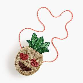 J.Crew Girls' glitter pineapple emoji bag