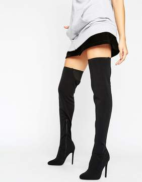 Asos KAMBER Stretch Over The Knee Boots