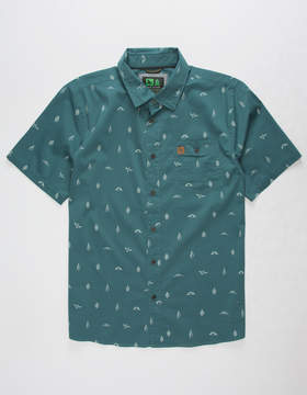 Hippy-Tree Hippytree Motif Mens Shirt