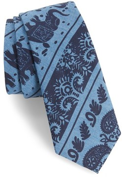 1901 Men's Ikat Denim Skinny Tie