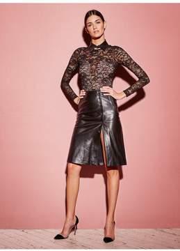 Fleur Du Mal Leather ALine Skirt