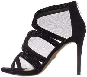 Thalia Sodi Womens Fabiaa Fabric Open Toe Special Occasion Ankle Strap Sandals.