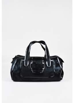 Pierre Hardy 1 Black Pony Hair Patent Leather Trim Satchel Bag