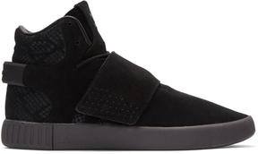 adidas Black Tubular Invader Strap Sneakers